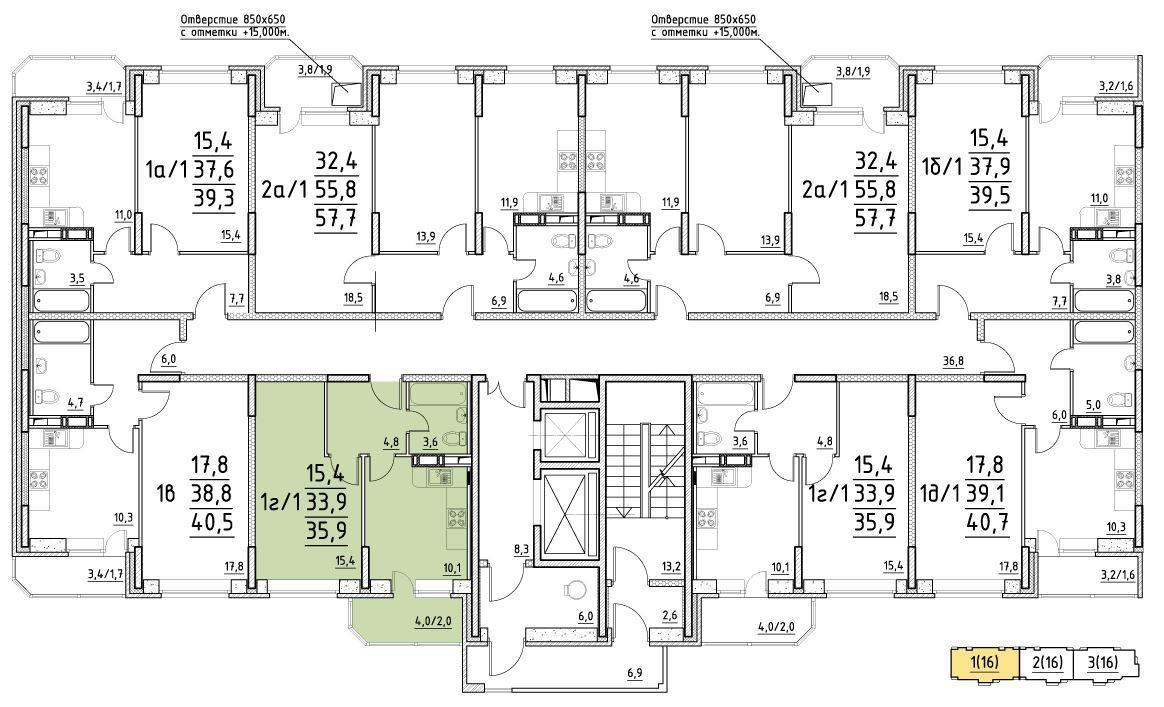 Планировки корпус 27
